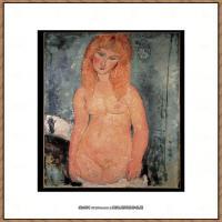 阿梅代奥莫迪利亚尼Amedeo Modigliani意大利著名画家绘画作品集油画作品高清图片nude1932