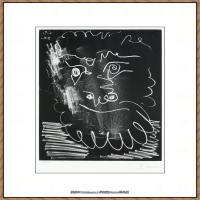 西班牙画家巴勃罗毕加索Pablo Picasso现代派素描毕加索手稿高清图片毕加索素描作品 (104)