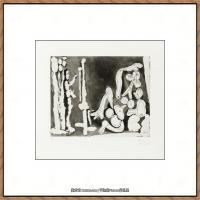 西班牙画家巴勃罗毕加索Pablo Picasso现代派素描毕加索手稿高清图片毕加索素描作品 (138)