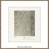 西班牙画家巴勃罗毕加索Pablo Picasso现代派素描毕加索手稿高清图片毕加索素描作品 (16)