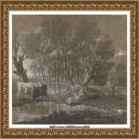 英国画家托马斯庚斯博罗Thomas Gainsborough肖像画风景画素描速写作品高清图片 (16)
