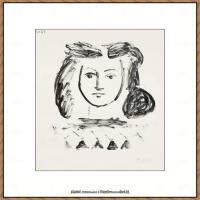 西班牙画家巴勃罗毕加索Pablo Picasso现代派素描毕加索手稿高清图片毕加索素描作品 (21)