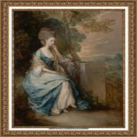 英国画家托马斯庚斯博罗Thomas Gainsborough肖像画家及风景图片 (1)