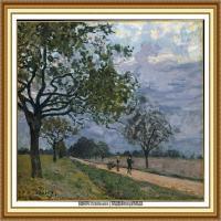 阿尔弗莱德西斯莱Alfred Sisley法国印象派画家世界著名画家风景油画高清图片 (29)