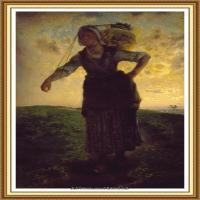 19世纪法国巴比松派画家让弗朗索瓦米勒Jean Francois Millet绘画作品集现实主义画家米勒 (37)