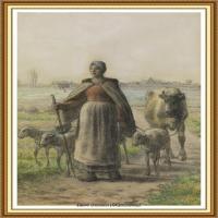 19世纪法国巴比松派画家让弗朗索瓦米勒Jean Francois Millet绘画作品集现实主义画家米勒 (16)
