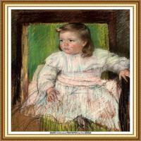 19世纪著名美国印象派女画家玛丽卡萨特Mary Cassatt绘画作品集油画作品高清图片 (55)