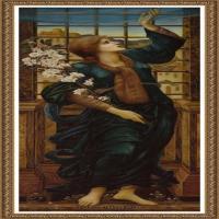 英国新拉斐尔前派画家插画家爱德华伯恩琼斯EdwardBurneJones油画作品高清图片插画作品集 (38)