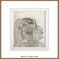 西班牙画家巴勃罗毕加索Pablo Picasso现代派素描毕加索手稿高清图片毕加索素描作品 (168)