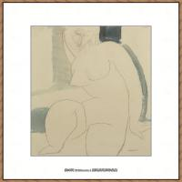 阿梅代奥莫迪利亚尼Amedeo Modigliani意大利著名画家绘画作品集手稿素描作品高清图片NU ASSIS1