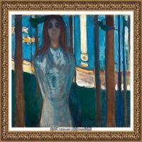 爱德华蒙克Edvard Munch挪威表现主义画家绘画作品集蒙克作品高清图片 (9)