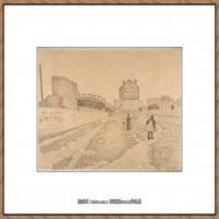保罗西涅克Paul Signac法国新印象派点彩派大师西涅克绘画作品集The Gas Tanks at ClichyTh