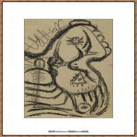 西班牙画家巴勃罗毕加索Pablo Picasso现代派素描毕加索手稿高清图片毕加索素描作品 (151)