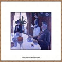 保罗西涅克Paul Signac法国新印象派点彩派大师西涅克绘画作品集Breakfast1