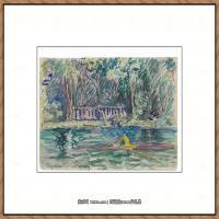 保罗西涅克Paul Signac法国新印象派点彩派大师西涅克绘画作品集Le skiff a Boisleroi