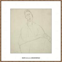 阿梅代奥莫迪利亚尼Amedeo Modigliani意大利著名画家绘画作品集手稿素描作品高清图片PORTRAIT DE