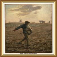 19世纪法国巴比松派画家让弗朗索瓦米勒Jean Francois Millet绘画作品集现实主义画家米勒 (32)