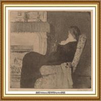 19世纪著名美国印象派女画家玛丽卡萨特Mary Cassatt绘画作品集油画作品高清图片 (85)