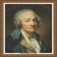 法国洛可可风格画家让巴蒂斯特格勒兹Jean Baptiste Greuze古典人物油画作品图片-SELF-PORTRAI