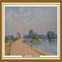 阿尔弗莱德西斯莱Alfred Sisley法国印象派画家世界著名画家风景油画高清图片 (18)