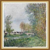 阿尔弗莱德西斯莱Alfred Sisley法国印象派画家世界著名画家风景油画高清图片 (14)