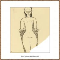 阿梅代奥莫迪利亚尼Amedeo Modigliani意大利著名画家绘画作品集手稿素描作品高清图片FEMME NUE, V