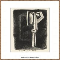 西班牙画家巴勃罗毕加索Pablo Picasso现代派素描毕加索手稿高清图片毕加索素描作品 (54)