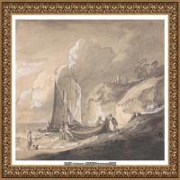 英国画家托马斯庚斯博罗Thomas Gainsborough肖像画风景画素描速写作品高清图片 (29)
