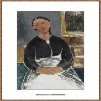 阿梅代奥莫迪利亚尼Amedeo Modigliani意大利著名画家绘画作品集油画作品高清图片LA FANTESC