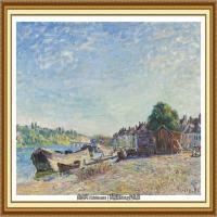 阿尔弗莱德西斯莱Alfred Sisley法国印象派画家世界著名画家风景油画高清图片 (48)