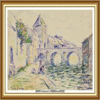 阿尔弗莱德西斯莱Alfred Sisley法国印象派画家世界著名画家风景油画高清图片 (32)