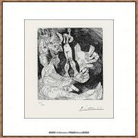 西班牙画家巴勃罗毕加索Pablo Picasso现代派素描毕加索手稿高清图片毕加索素描作品 (4)