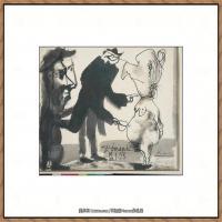 西班牙画家巴勃罗毕加索Pablo Picasso现代派素描毕加索手稿高清图片毕加索素描作品 (22)