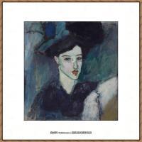 阿梅代奥莫迪利亚尼Amedeo Modigliani意大利著名画家绘画作品集油画作品高清图片LA JUIVE