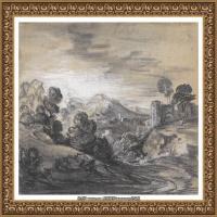 英国画家托马斯庚斯博罗Thomas Gainsborough肖像画风景画素描速写作品高清图片 (21)