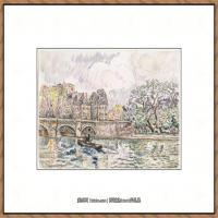 保罗西涅克Paul Signac法国新印象派点彩派大师西涅克绘画作品集Paris Le Place Dauphine (
