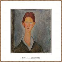 阿梅代奥莫迪利亚尼Amedeo Modigliani意大利著名画家绘画作品集油画作品高清图片Studente