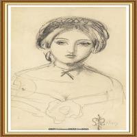 十九世纪英国画家约翰埃弗里特米莱斯John Everett Millais拉斐尔前派画家素描速写 (7)