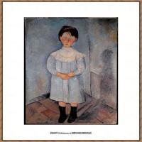 阿梅代奥莫迪利亚尼Amedeo Modigliani意大利著名画家绘画作品集油画作品高清图片Girl standing