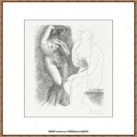 西班牙画家巴勃罗毕加索Pablo Picasso现代派素描毕加索手稿高清图片毕加索素描作品 (17)