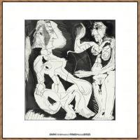 西班牙画家巴勃罗毕加索Pablo Picasso现代派素描毕加索手稿高清图片毕加索素描作品 (2)