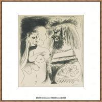 西班牙画家巴勃罗毕加索Pablo Picasso现代派素描毕加索手稿高清图片毕加索素描作品 (31)
