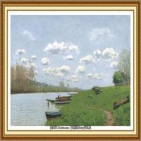 阿尔弗莱德西斯莱Alfred Sisley法国印象派画家世界著名画家风景油画高清图片 (37)