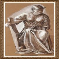 英国新拉斐尔前派画家插画家爱德华伯恩琼斯EdwardBurneJones油画作品高清图片插画作品集 (14)
