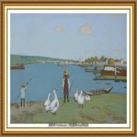 阿尔弗莱德西斯莱Alfred Sisley法国印象派画家世界著名画家风景油画高清图片 (3)