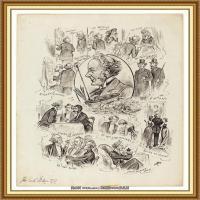 十九世纪英国画家约翰埃弗里特米莱斯John Everett Millais拉斐尔前派画家素描速写 (19)