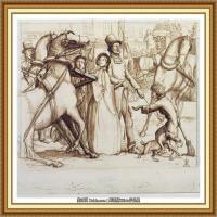 十九世纪英国画家约翰埃弗里特米莱斯John Everett Millais拉斐尔前派画家素描速写 (16)