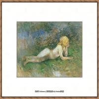 贝尔特莫里索Berthe Morisot法国印象派女画家绘画作品高清图片莫里索油画作品高清图片 (16)