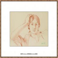 贝尔特莫里索Berthe Morisot法国印象派女画家绘画作品集素描手绘手稿底稿高清图片 (14)