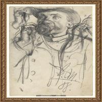 阿道夫门采尔Adolf Menzel德国著名油画家版画家插图画家绘画作品集素描手稿底稿经典作品图片 (21)